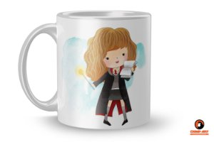 Caneca Harry Potter Aquarela - Hermione