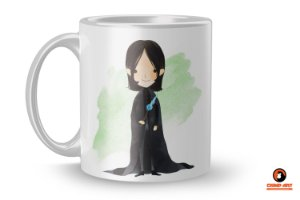 Caneca Harry Potter Aquarela - Snape