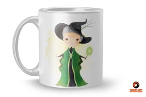 Caneca Harry Potter Aquarela - Minerva McGonagall