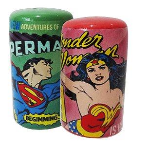 Saleiro e Pimenteiro - Super Homem e Mulher Maravilha