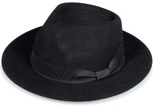 Chapéu Fedora Preto Unissex Aba 6cm