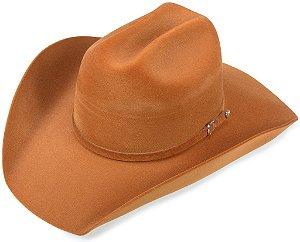 Chapéu Cowboy Caramelo Aba 10 cm Edição Veludo