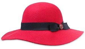 Chapéu Vermelho Floppy Aba Grande Laço