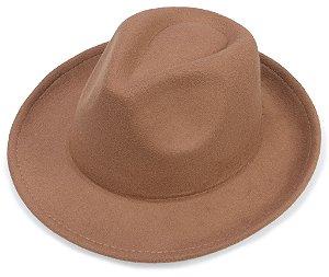 Chapéu Fedora Castor Aba 6cm