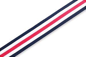 Faixa Azul Marinho Branca e Vermelha - Coleção Stripes