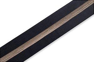 Faixa Preta e Dourada Large - Coleção Stripes