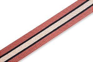 Faixa Caramelo Preto e Bege - Coleção Stripes