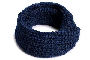Cachecol Gola Tricô II Azul Marinho