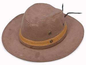 Chapéu Cowboy Marrom Faixa bege