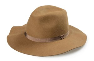 Chapéu Fedora Caramelo 100% Lã Aba 8 cm Premium Hats