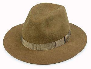 Chapéu Fedora Caramelo 100% Lã Aba 6,5cm Premium Hats