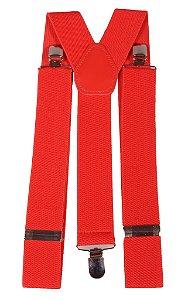 Suspensório Unisex Vermelho 3,5 cm