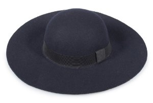 Chapéu Floppy Azul Marinho 100% Lã Aba 11cm
