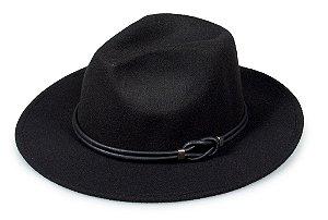 Chapéu Fedora Preto Nó Custom Hats