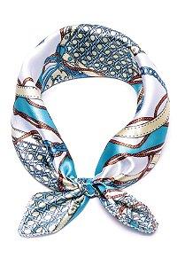 Lenço Celtic Knot Azul Turquesa - Coleção Lenço