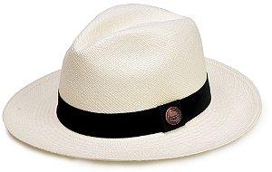 Chapéu Panamá Legítimo Aba Média Faixa Clássica
