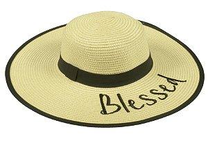 Chapéu Floppy Praia Palha Bege Blessed
