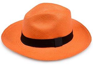 Chapéu Panamá Laranja Aba Média Edição Limitada