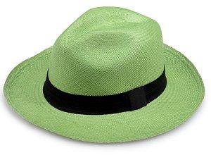Chapéu Panamá Verde Limão Aba Média Edição Limitada