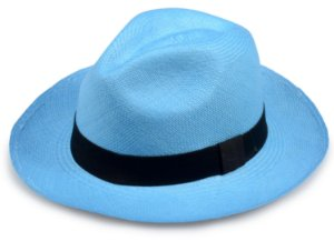 Chapéu Panamá Azul Celeste Aba Média Edição Limitada