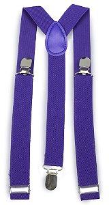 Suspensório Unissex Azul Royal 2,5 cm