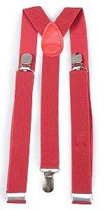 Suspensório Unissex Vermelho Escuro 2,5cm