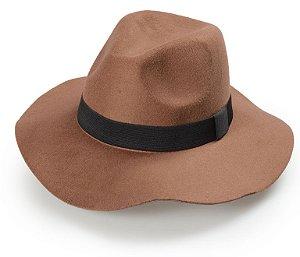 Chapéu Fedora Caramelo Aba Média Maleável