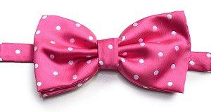 Gravata Borboleta Rosa Estampada Retrô