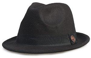 Chapéu Fedora Preto Aba Curta 4cm Curva