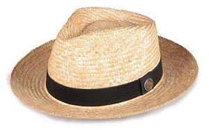 Chapéu Fedora Palha de Trigo Aba Média Curva 7cm