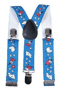 Suspensório Infantil Estampado Azul Royal 2,5 cm