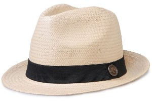 Chapéu de Palha Shantung Bege Aba Média 5cm