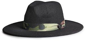 Chapéu Fedora Aba 8cm Custom Militar