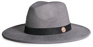 Chapéu Fedora Aba 8cm Custom Nobuck Preto