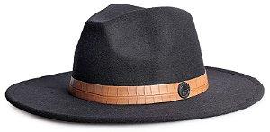 Chapéu Fedora Aba 8cm Custom Animale Jacaré