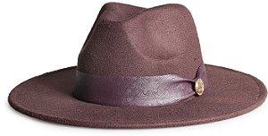 Chapéu Fedora Aba 8cm Custom Animale Avestruz