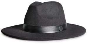 Chapéu Fedora Unisex Aba 8cm Faixa Estampa Couro