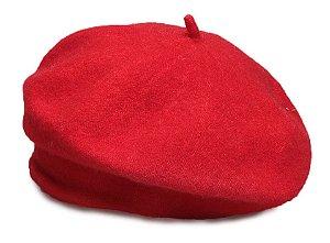 Boina Francesa Algodão Vermelha