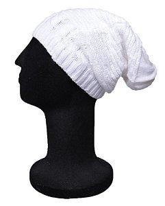 Touca Gorro Fraser Tricô Branca