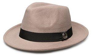 Chapéu Fedora Cinza Aba Média 6cm