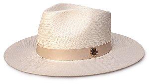 Chapéu Fedora palha Aba 8cm - Coleção Couro