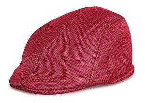 Boina Italiana Masculina Xadrez Vermelho e Preto