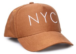 Boné NYC Caramelo Aba Curva