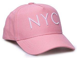 Boné NYC Rosa Aba Curva