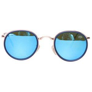 Óculos Tree Round Dobrável Azul