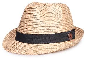 Chapéu Bege de Palha Aba curta Verão