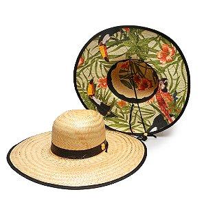 Chapéu de Palha Surf Estampado Tucano