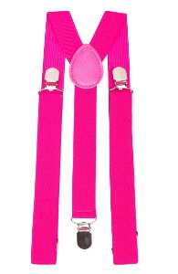 Suspensório Adulto Rosa couro Rosa 2,5cm