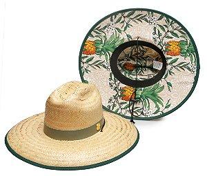 Chapéu de Palha Surf Estampado Abacaxi