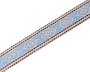 Faixa Estampada Detalhes Azul